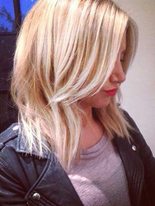 Best Short Blonde Haircut 2014