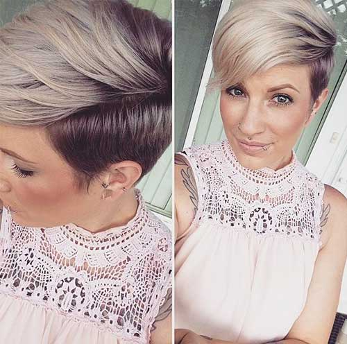 Best Short Two Colored Hairstyles 2015