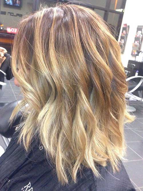 Blonde Balyage Short Haircuts 2014 2015