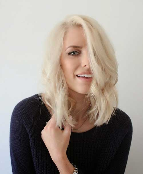 Blonde Wavy Hairstyles for Short Hair 2015
