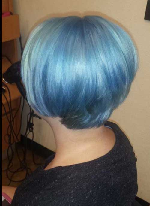 Blue Short Hairstyles 2015 2016