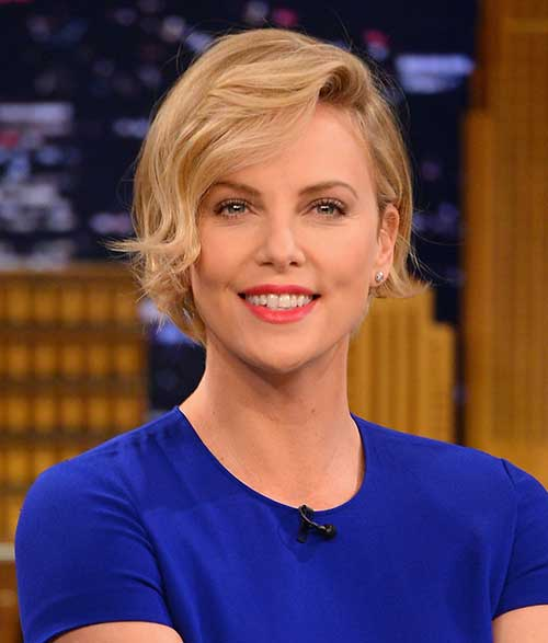 Best Charlize Theron Short Hairstyles 2014