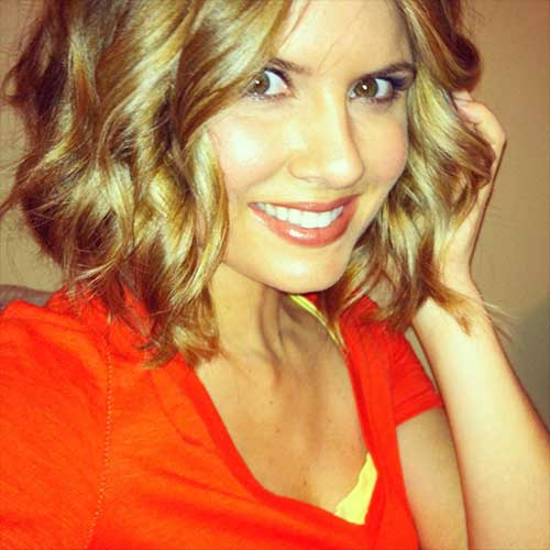 Curly Blonde Short Haircuts 2015