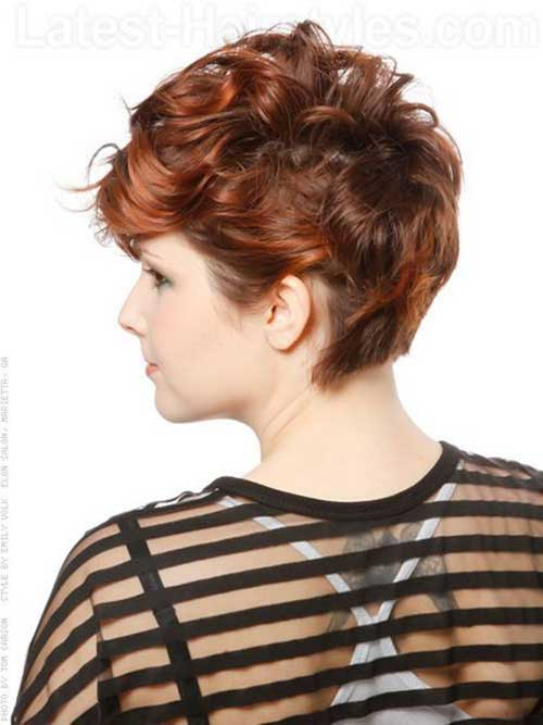 Curly Short Hairstyles Back View Pictures