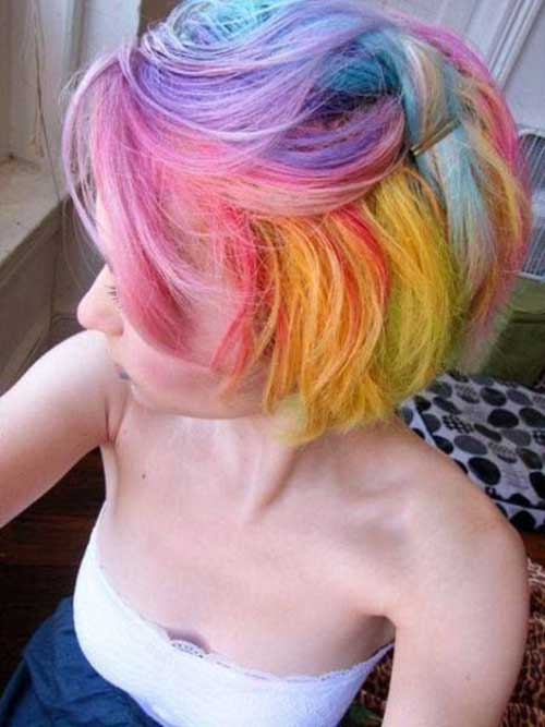 Emo Pixie Colored Hair