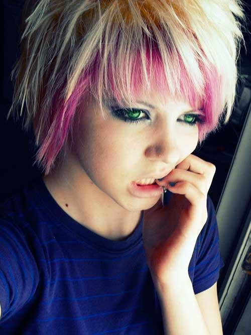 Emo Scene Pixie Hair Cut
