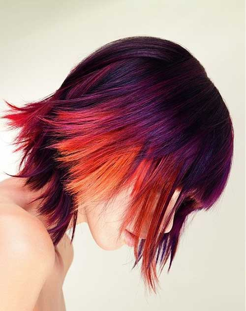 Funky Multi Color Short Hairstyles
