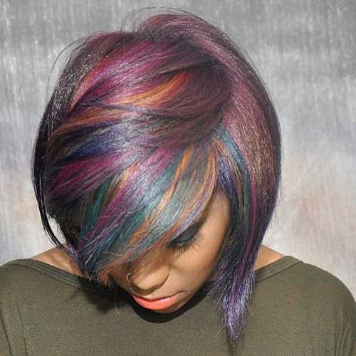 Funky Short Colored Hairstyles