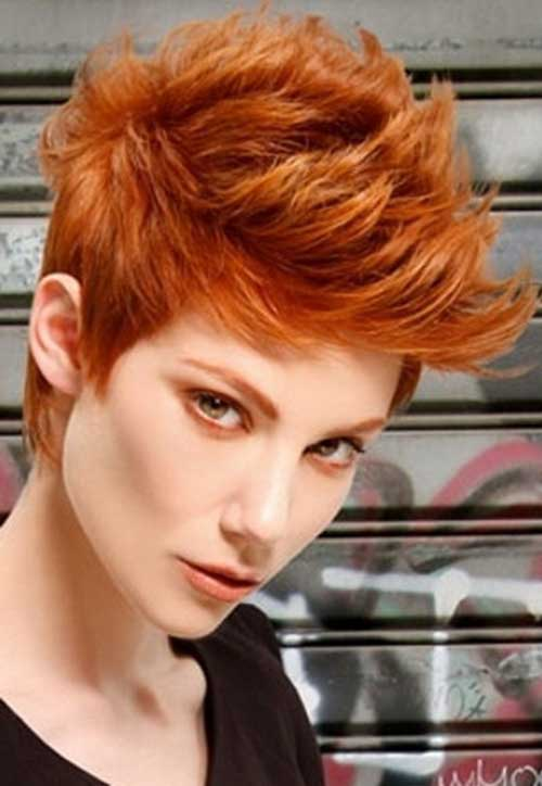 Funky Short Copper Hairstyles