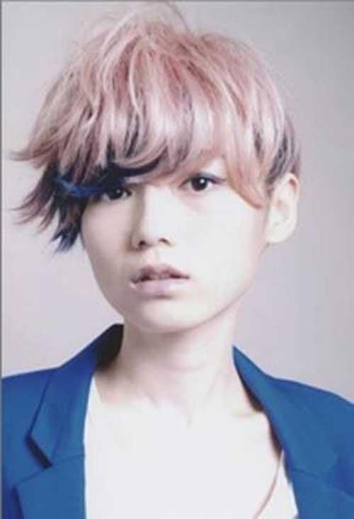 Funky Short Pastel Pink Hairstyles