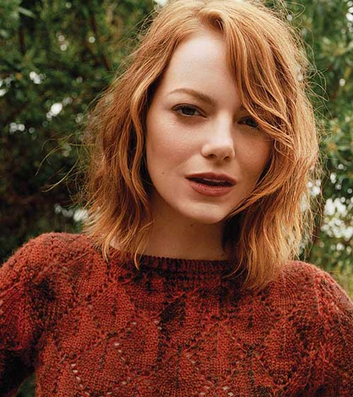 Ginger Wavy Hairstyles for Short Hair