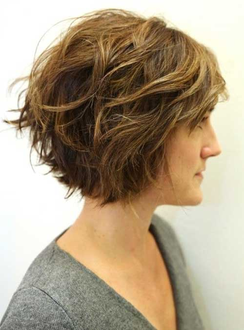 Graduated Short Haircuts for Wavy Thick Hair Ideas
