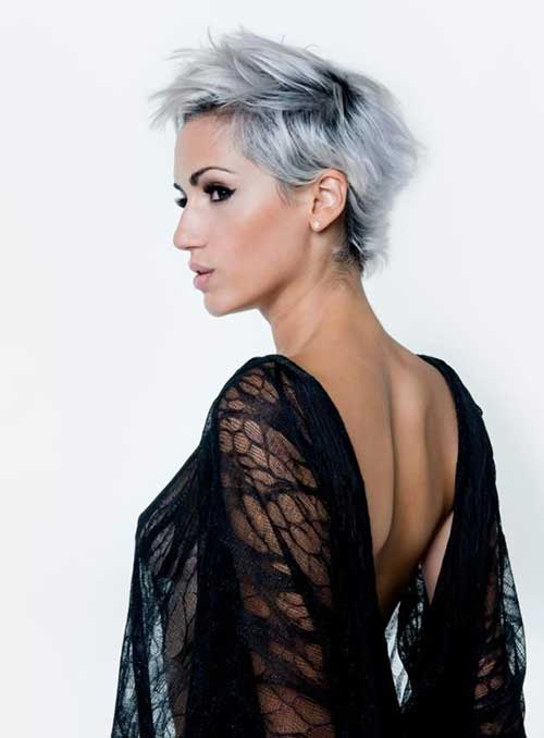 Grey Funky Short Hairstyles