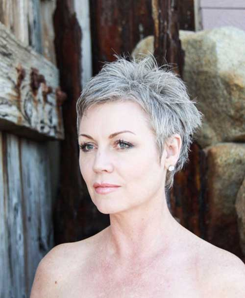 Grey Pixie Cut Styles