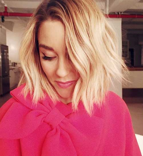 Blonde Hairstyles for Short Wavy Hair