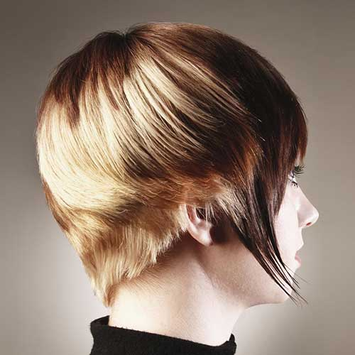 Highlighted Short Wedge Haircut
