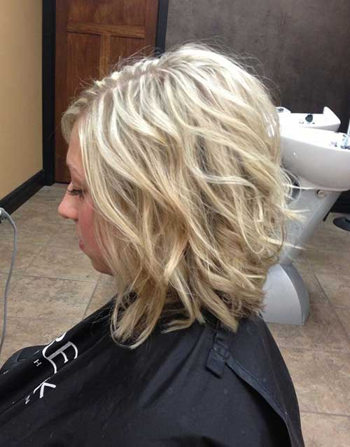 Inverted Short Curly Hairstyles 2014