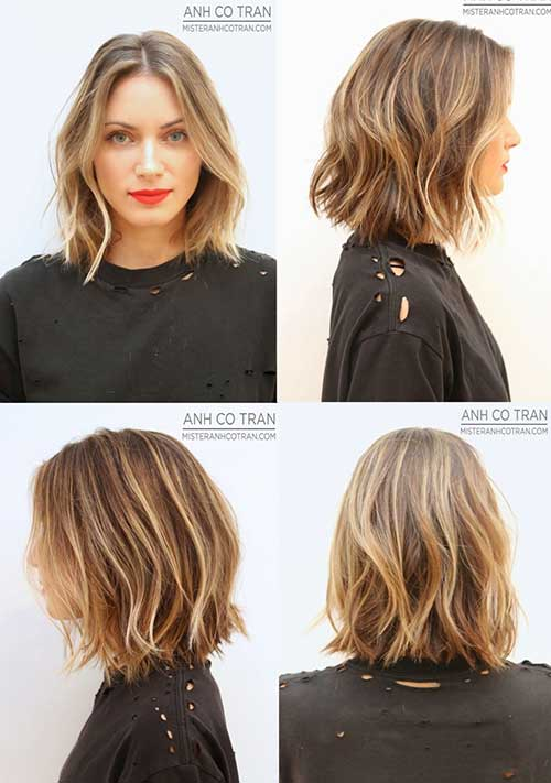 Layered Haircuts for Balyage Short Hair