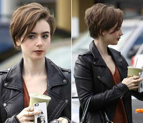 Lily Collins Short Hair Cuts