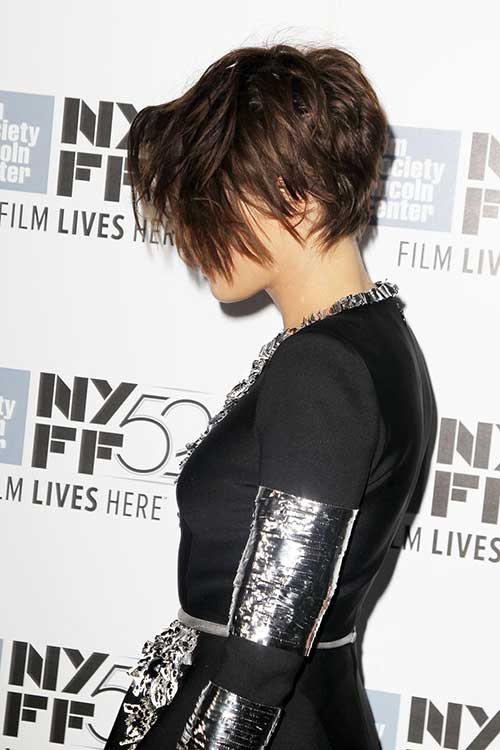 Long Asymmetrical Pixie Hair 2015