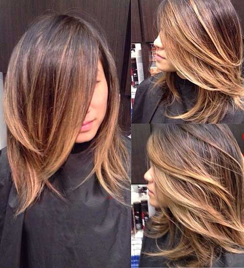 Ombre Balyage Short to Medium Length Hairstyles