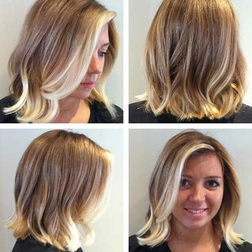 Ombre Short Hairstyles for Wavy Hair