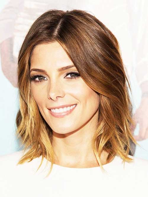 Ombre Short Wavy Thin Hairstyles