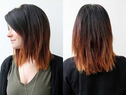 Ombre Short to Medium Length Hairstyles