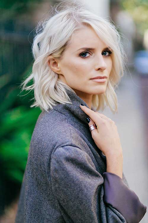 Platinum Blonde Short Cropped Hairstyles