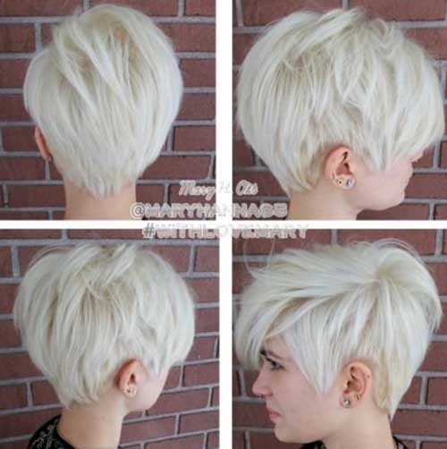 Platinum Blonde Short Hairstyles Pixie Style
