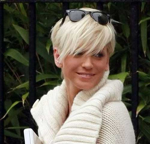 Platinum Blonde Super Short Haircuts for Women