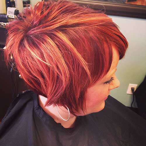 Red Short Pixie Hair Styles for Women