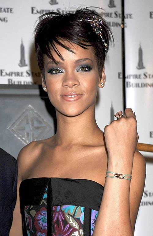 Rihanna Edgy Haircuts For Short Hair