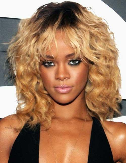 Rihanna Short Curly Hair Styles