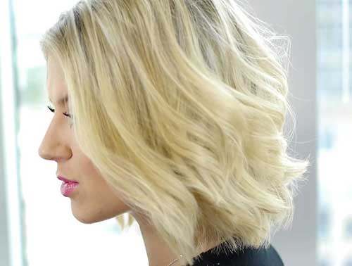 Short Blonde Haircuts for Thin Wavy Hair 2015