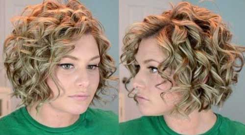Short Bob Cut with Curly Hairstyles