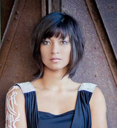 Short Layered Bob Hairstyles With Bangs: 20 Images Of Short Haircuts 2014 - 2015