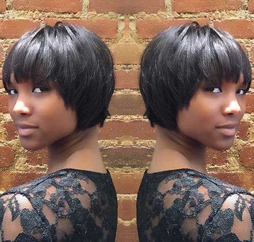 Short Cropped Dark Hairstyles