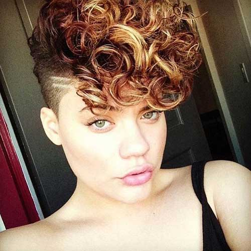 Short Curly Mohawk Hair Styles 2015