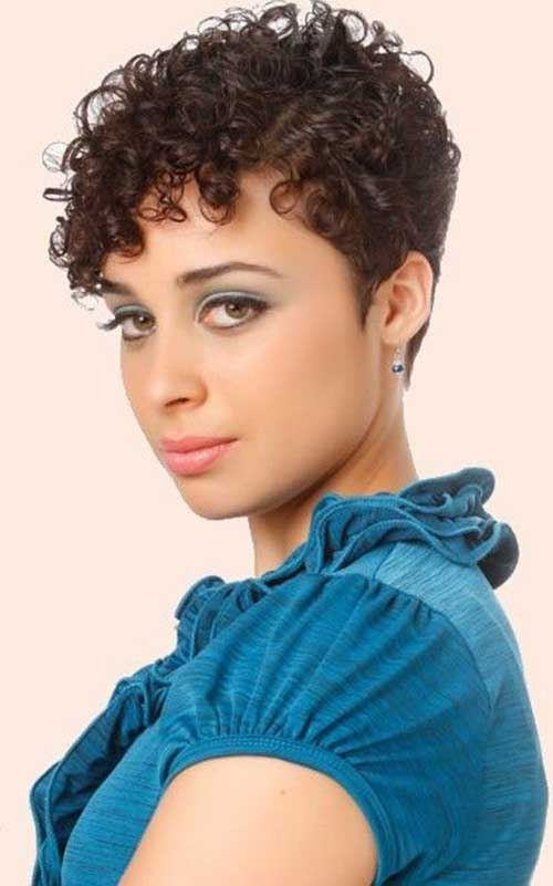 Short Curly Pixie Hairstyles 2015