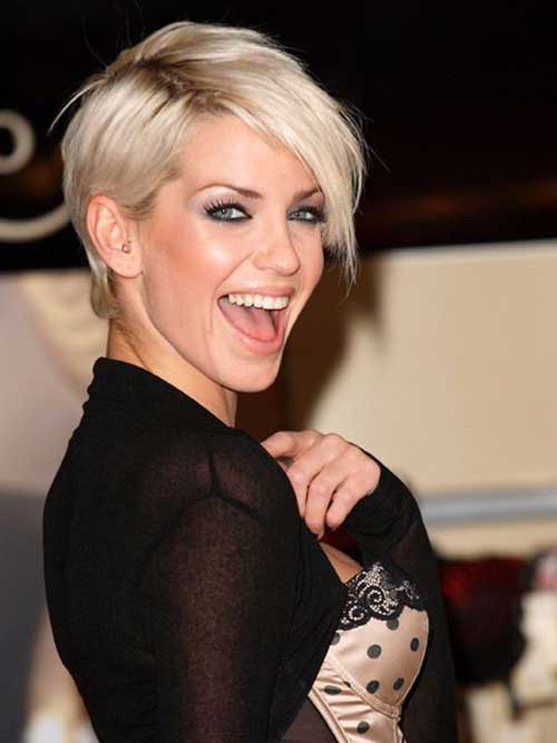 Short Cut Edgy Blonde Hairstyles