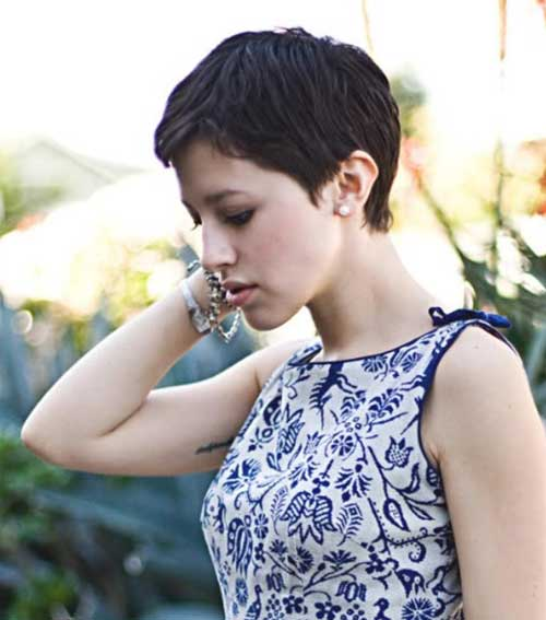 Short Dark Pixie Haircuts 2014 2015