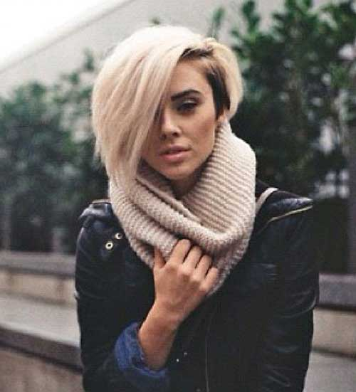 Short Edgy Blonde Bob Haircuts