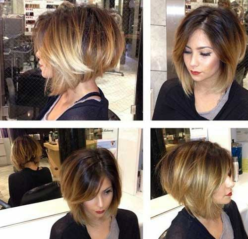 Short Edgy Stacked Bob Haircuts