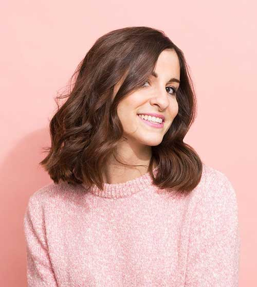 Dark Brown Short Hair for Wavy Thin Hair