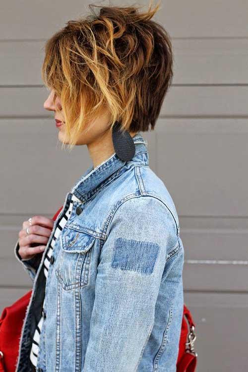 Short Highlighted Hair Pixie Style
