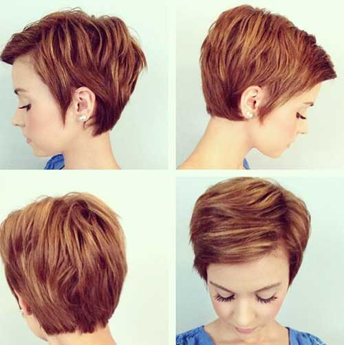 short hairstyle 2014 layered messy short pixie haircut