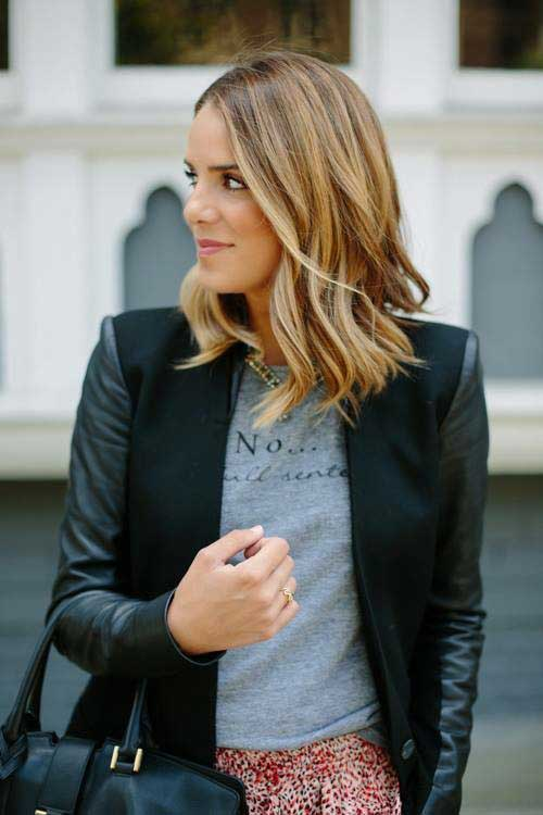 Short Length Medium Hair Styles