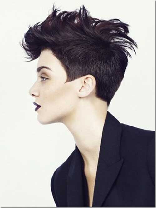 Short Punk Pixie Dark Hairstyles
