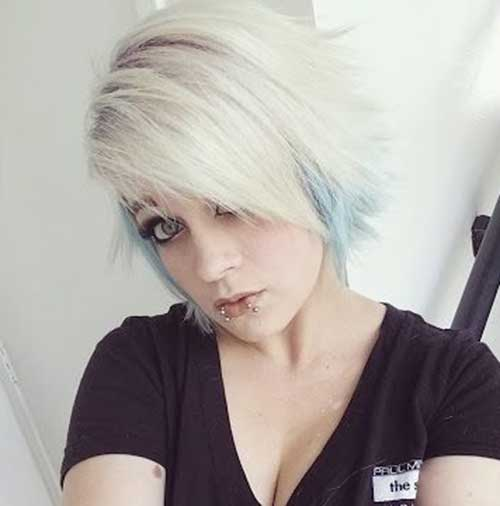 Short Punk Pixie Blonde Hairstyles